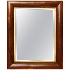 19th Century English, Fruitwood, Beveled Mirror