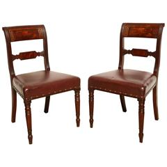 Pair of Early 19th Century English Regency Side Chairs