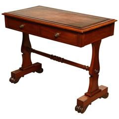 Mid-19th Century English, Mahogany and Leather Top Desk