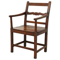 George III Oak Armchair