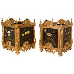 Pair of French Louis XVI Style Cache-Pots