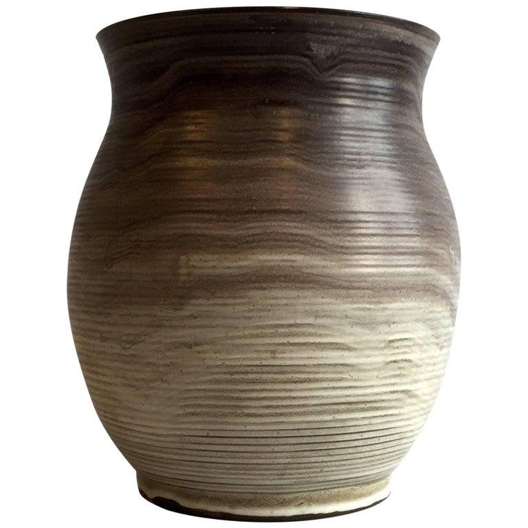 Bauhaus Delius Hameln Stoneware Vase For Sale
