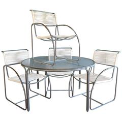 Kipp Stewart for Terra Tubular Bronze Outdoor Dining Set