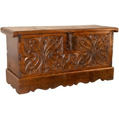 Early 17th Century French Walnut Blanket Chest