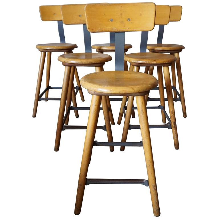 German Industrial Workshop Chair Bar Stool For Sale At