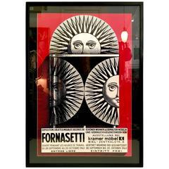 1963 Fornasetti Exhibition Poster