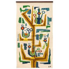 Very Rare, Large and Stunning Evelyn Ackerman Tapestry