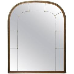 Large French Mahogany and Brass Trimmed Manel Mirror