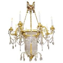 19th Century Louis XV Style Ormolu and Cut-Glass Chandelier by Mottheau et Fils