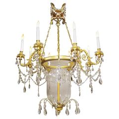 19th Century Louis XV Style Ormolu and Cut-Glass Chandelier by Mottheau et Fils