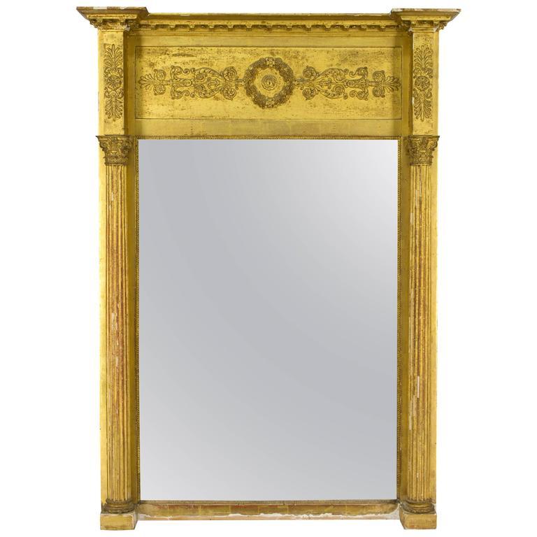 Professional Sale Antique Large Empire Gilt Mirror Antique Furniture Antiques 19th Century