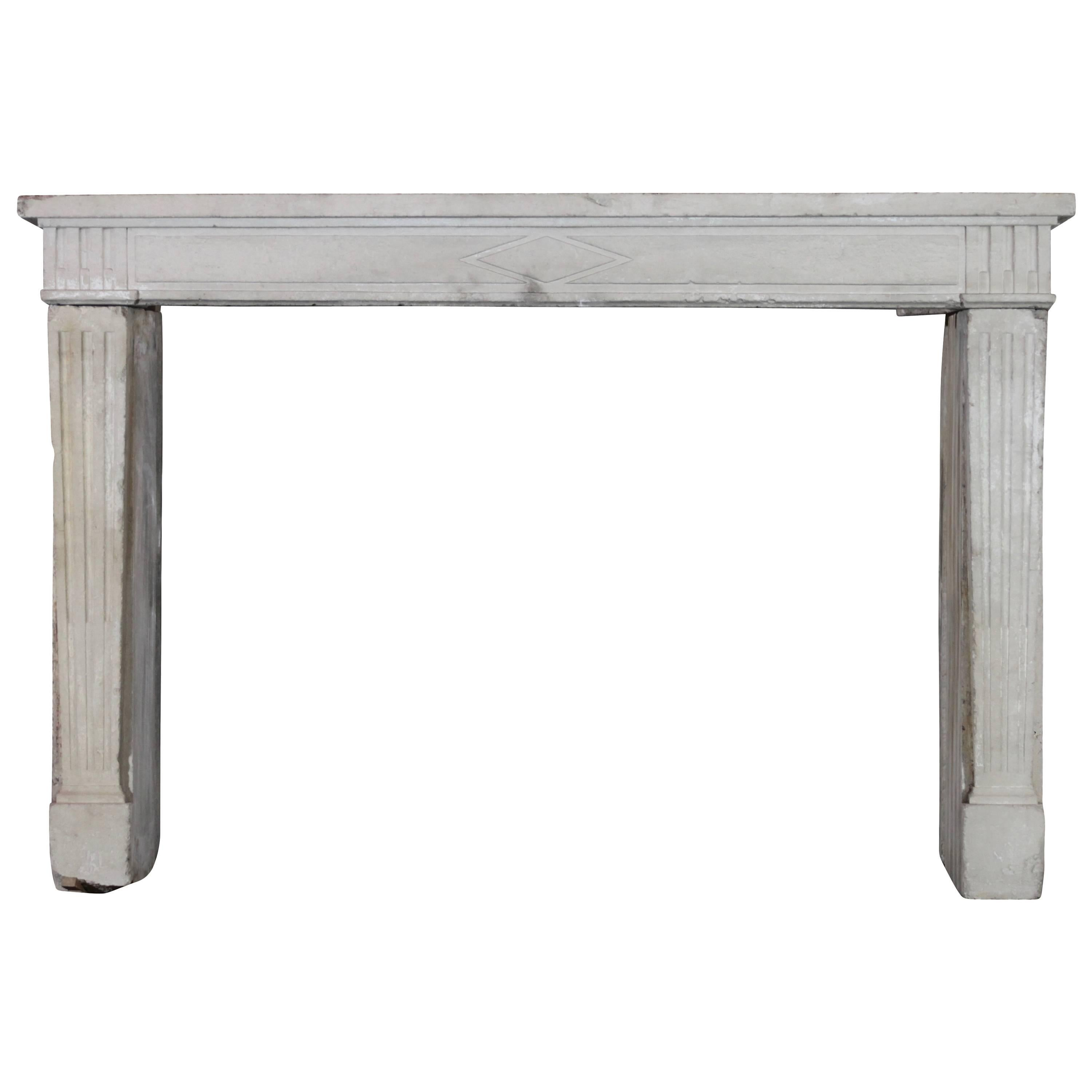 18Th Century Original Antique French Country Fireplace Mantel For Sale