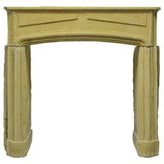 Rustic Limestone Louis XIV Fireplace Mantel