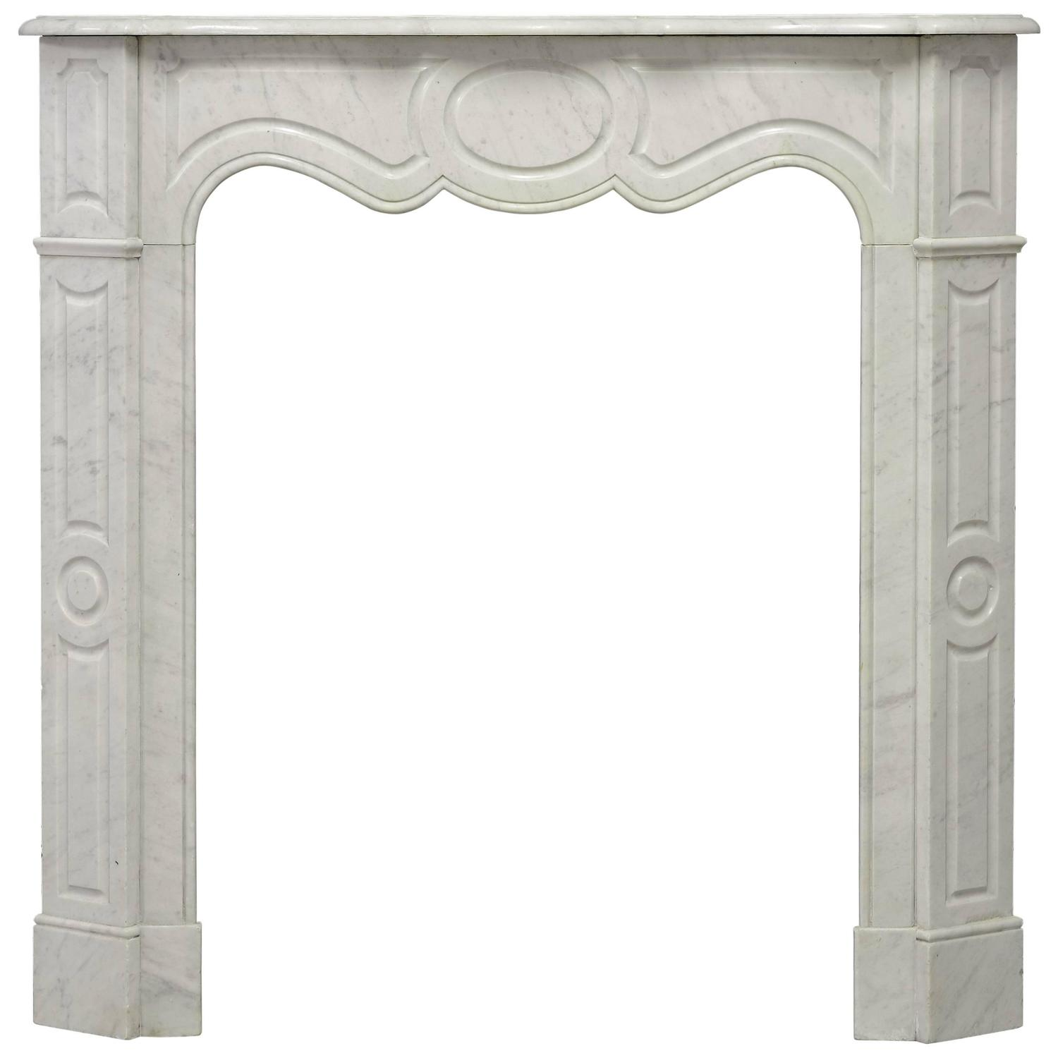 large antique french louis xv fireplace mantel in belgian black