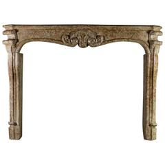 18th Century Brown Hard Stone Antique Fireplace Mantel