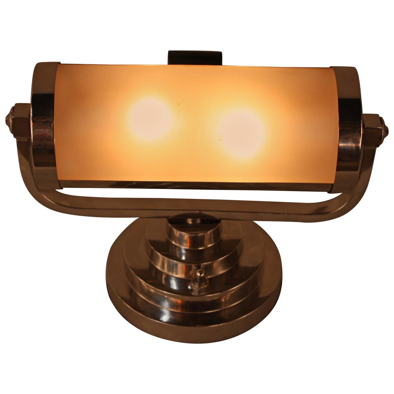 Desk Light For Art: French Art Deco Desk Lamp At 1stdibs