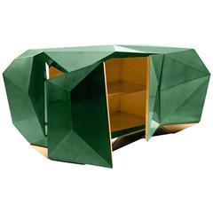 Jade Sideboard Translucent Green with High Gloss Varnish