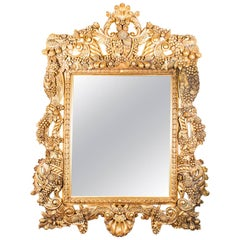 Huge Decorative Ornate Florentine Giltwood Mirror 190 x 150 cm
