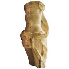 18th Century Torso Sculpture of Apollo in White Marble