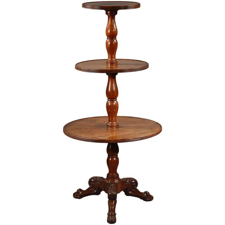 Dumbwaiter Table, 19th Century