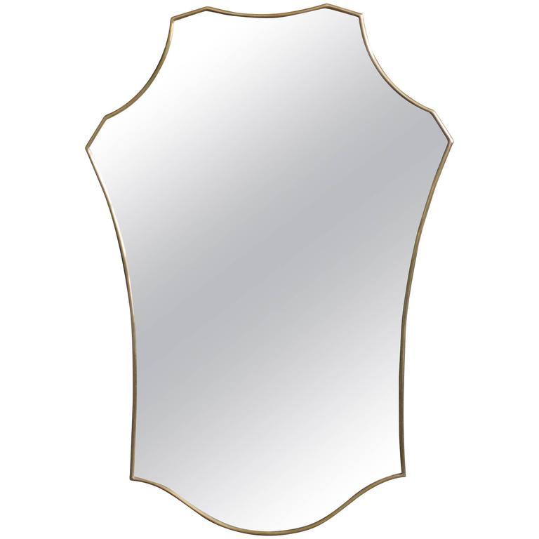 Mid-Century Modern Italian Brass Mirror