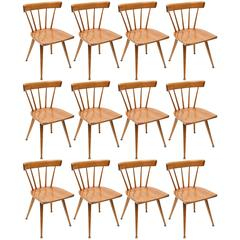 Set of 12 Paul McCobb Screw Planner Series Dining Chairs, 1950s, USA