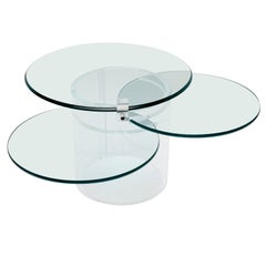 Three-Tiered Lucite Coffee Table, 1970s, USA