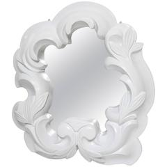 1940s Hollywood Regency Serge Roche Style Free-Form Foliage Plaster Mirror