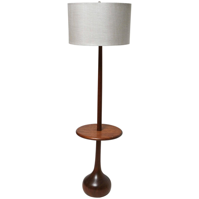 Mid century danish modern wood teardrop table floor lamp Modern floor lamps