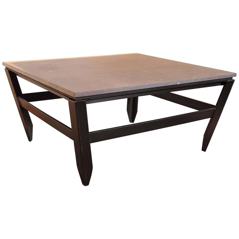 Coffee Table Angled Legs: French Modern Angled Coffee Table, Circa 1960s For Sale At