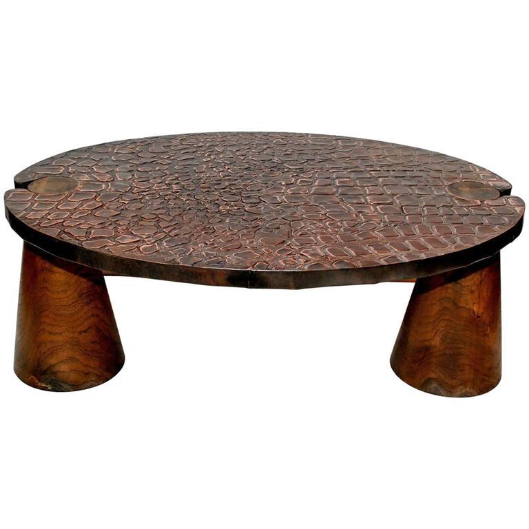 elegant copper coffee table at 1stdibs. Black Bedroom Furniture Sets. Home Design Ideas