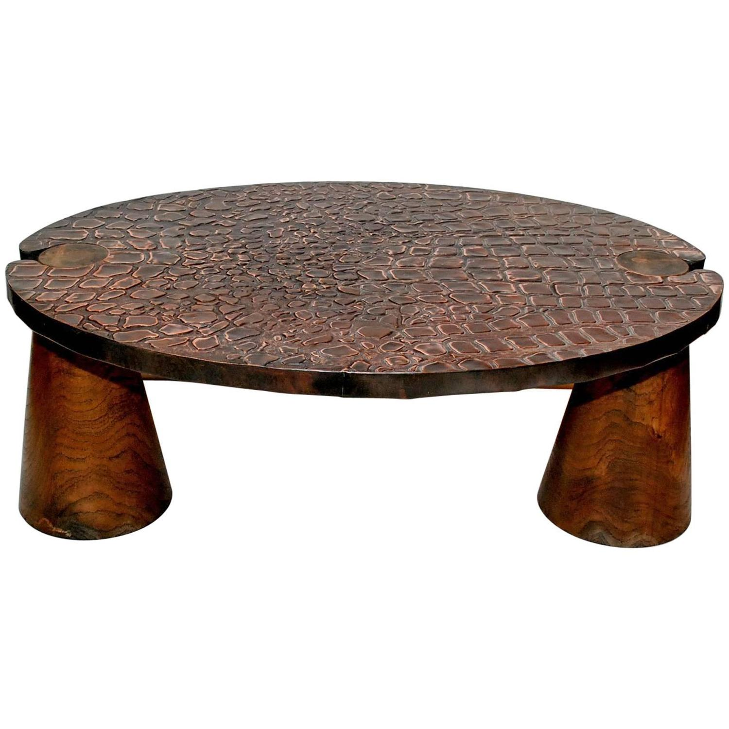elegant copper coffee table at 1stdibs