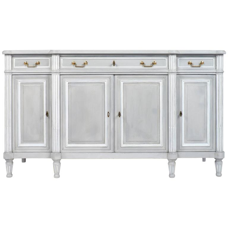 antique louis xvi style painted sideboard at 1stdibs. Black Bedroom Furniture Sets. Home Design Ideas
