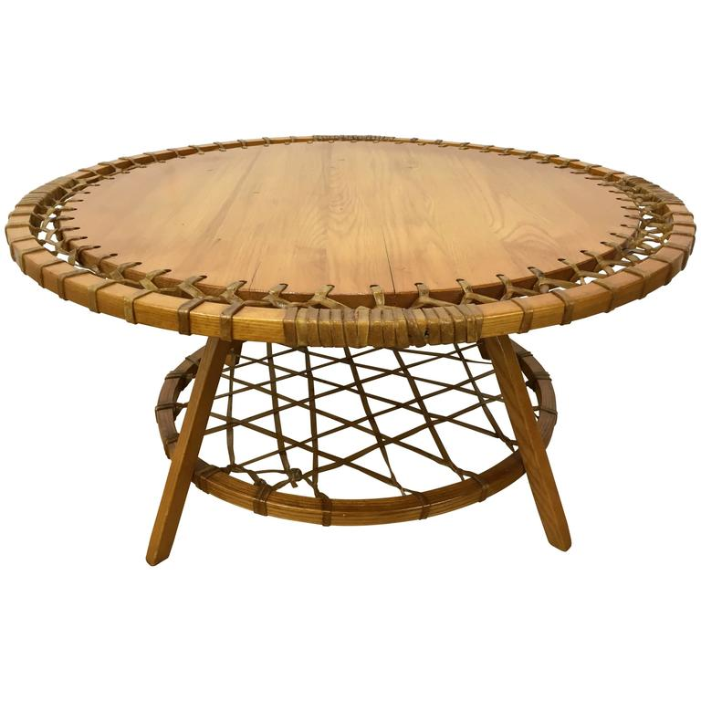 Circular Adirondack Style Coffee Table For Sale At 1stdibs