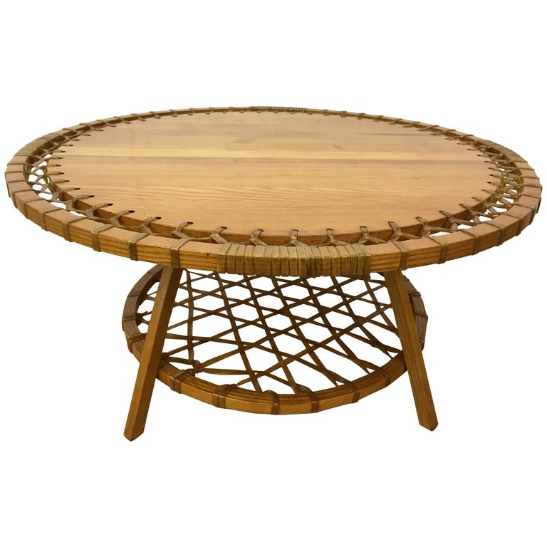 circular adirondack style coffee table for sale at 1stdibs. Black Bedroom Furniture Sets. Home Design Ideas