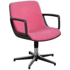 Executive Office Desk Swivel Chair in Style of Charles Pollack for Knoll