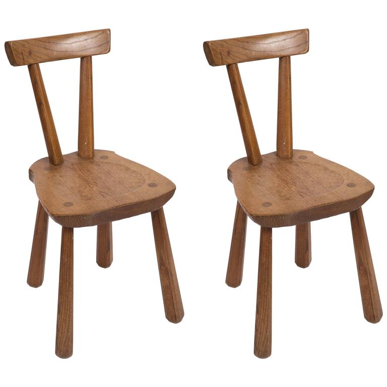 Rustic Wooden Side Chairs 1