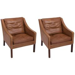 Pair of Børge Mogensen Leather Chairs