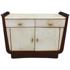 French Art Deco Parchment Cabinet