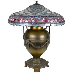 Tiffany Style Table Lamp by Edward Miller & Co.