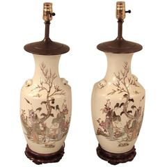 Pair of Chinese Vases Now as Lamps