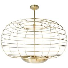 Cage Brass Pendant
