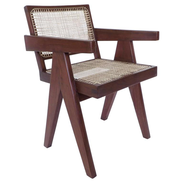 Pair of Office Dining Armchairs by Pierre Jeanneret from Chandigarh