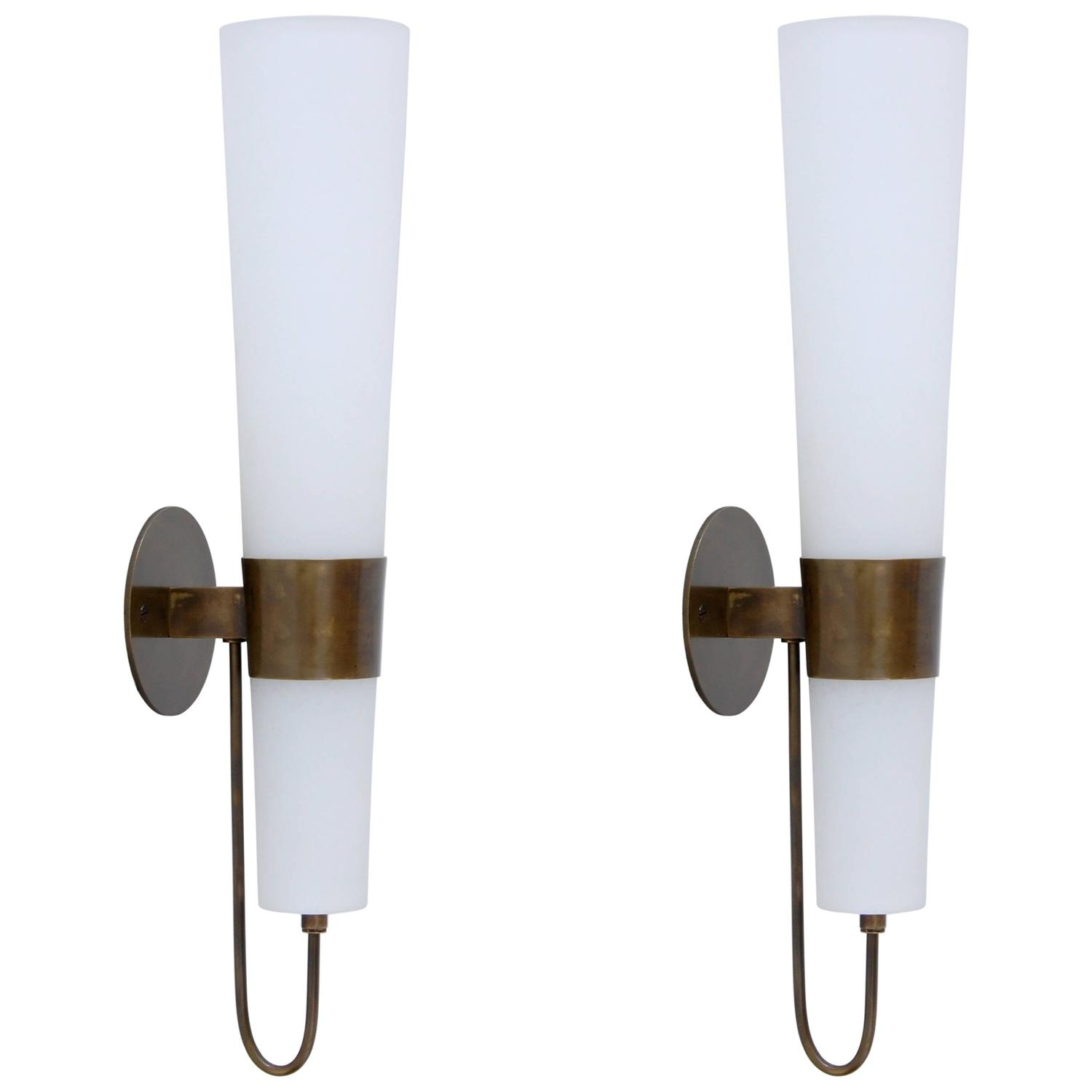 1940s Italian Torchiere Sconces at 1stdibs