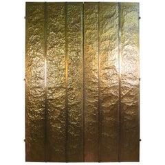 Custom Hammered Brass Doors