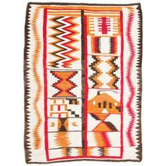 Unusual Navajo Sampler Rug