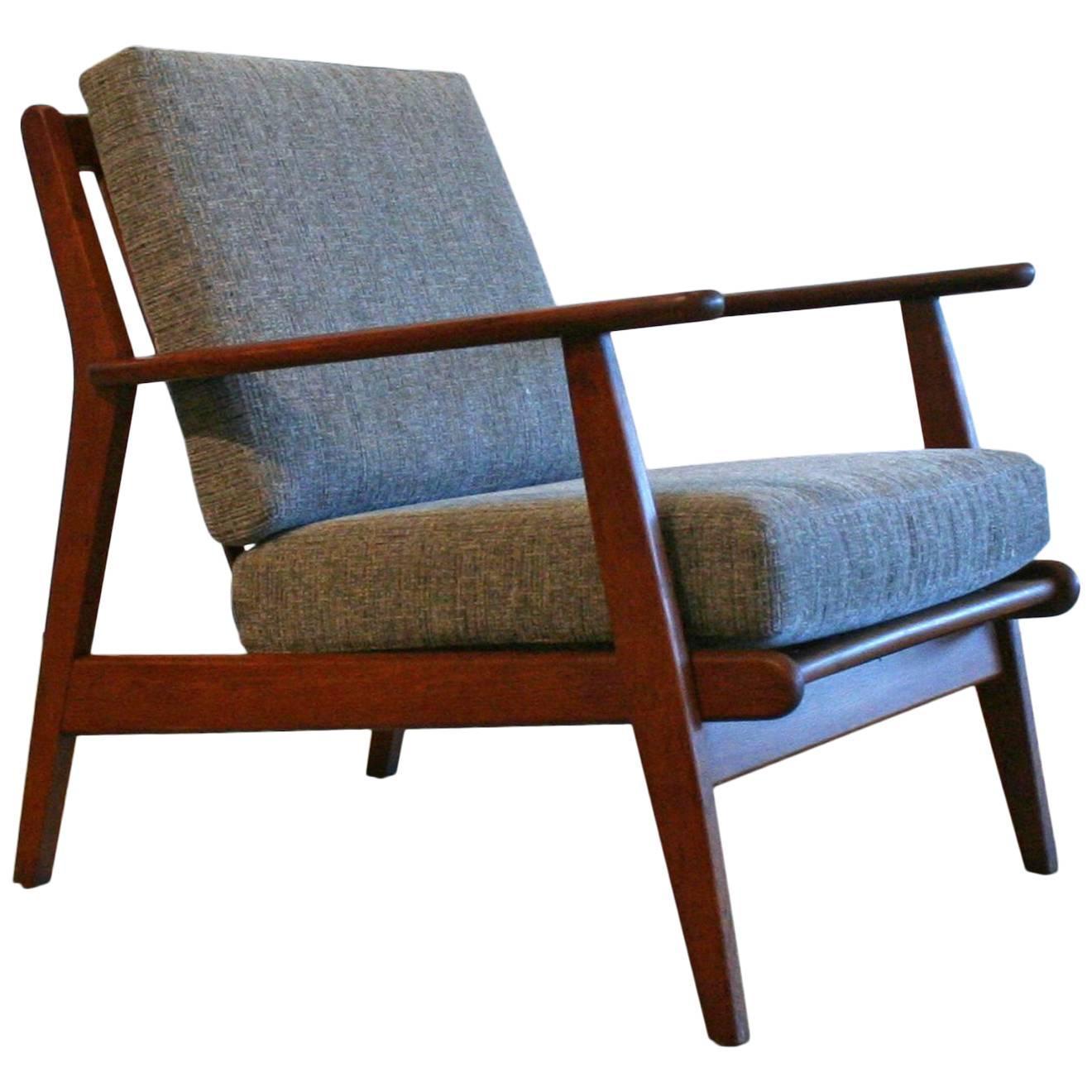 Vintage Danish Teak Lounge Chair at 1stdibs - Danish Teak Lounge Chair At 1stdibs