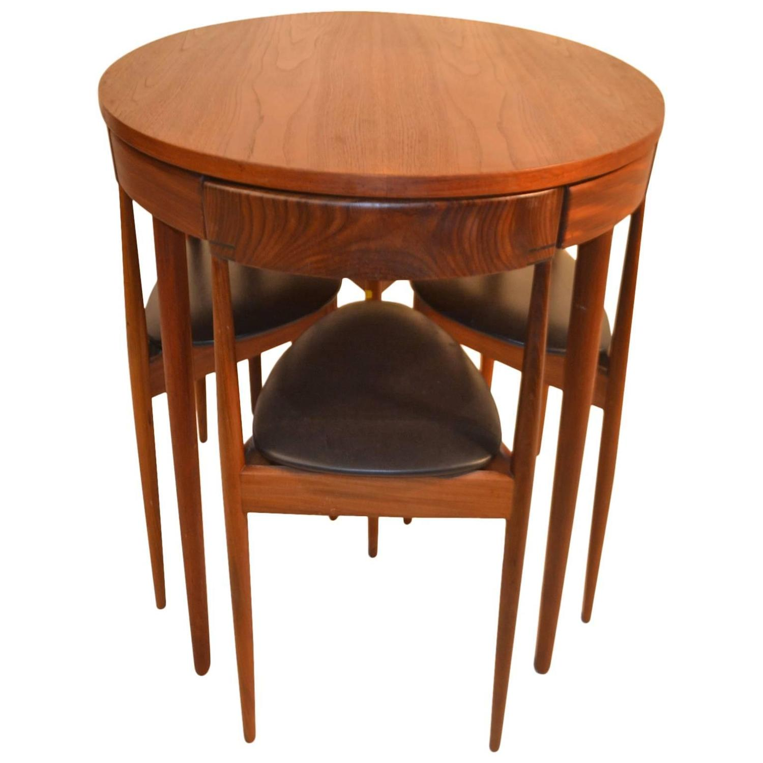 Teak Dining Table And Chairs: Danish Teak Dining Table And Chairs By Hans Olsen For Frem