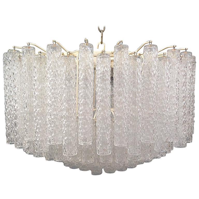 Gorgeous Venini Murano Glass Chandelier, 12 Lights