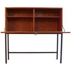 1950 Drop Front Secretary Desk in Teak by Børge Mogensen